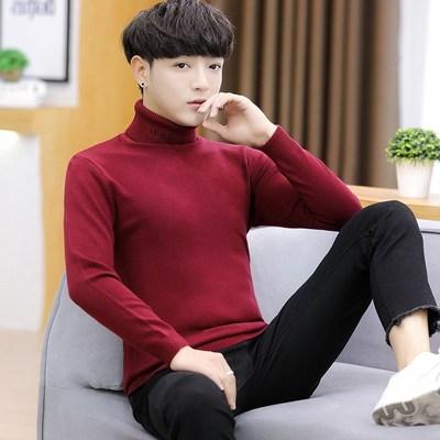 (พร้อมส่งสีแดง) เสื้อคอเต่าผู้ชาย เสื้อไหมพรมกันหนาว เสื้อไหมพรมคอสูง เสื้อไหมพรมคอเต่า