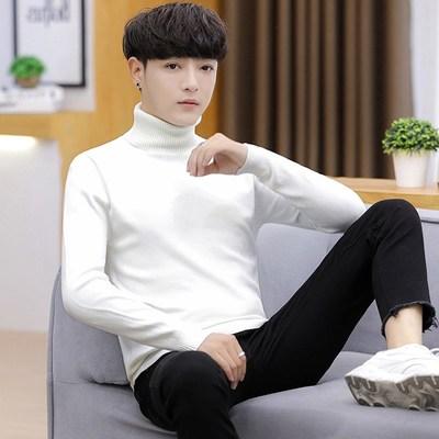 (พร้อมส่งสีขาว) เสื้อคอเต่าผู้ชาย เสื้อไหมพรมกันหนาว เสื้อไหมพรมคอสูง เสื้อไหมพรมคอเต่า