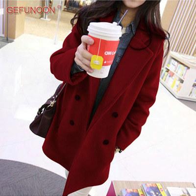 (พร้อมส่งสีไวท์แดง) เสื้อโค๊ทกันหนาวผู้หญิง เสื้อคลุมกันหนาว เสื้อโค๊ทแฟชั่น เสื้อโค๊ทผ้าวูล
