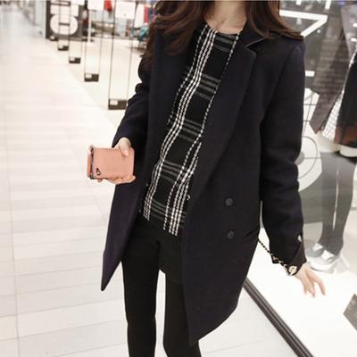 (พร้อมส่งสีดำ) เสื้อโค๊ทกันหนาวผู้หญิง เสื้อคลุมตัวยาว เสื้อโค๊ทตัวยาว เสื้อโค๊ทผ้าวูล