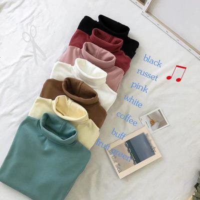 (พร้อมส่งสีขาว) เสื้อแขนยาวคอเต่า เสื้อลองจอนกันหนาว เสื้อคอเต่าลองจอน