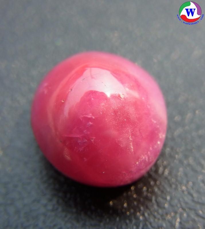 พลอยแท้ ทับทิมกิมบ่เสี้ยงเมืองจันทบุรี ชมพูเข้มเหลือบขาว 9.60 กะรัต ของจริงสีสวยมาก