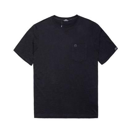 ขนาด:XL 2XL 3XL 4XL 5XL 6XL 7XL สี:ดำ/น้ำเงิน/เทา เสื้อคนอ้วน เสื้อผ้าผู้ชาย ขนาดใหญ่ เสื้อยืด แขนสั้น