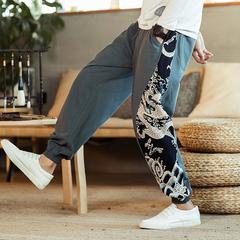 กางเกงผู้ชาย ราคาถูก กางเกงลำลอง กางเกงผ้าฝ้ายลินิน กางเกงฮาเร็ม มี สีหมอก สีดำ สีไวน์แดง มี ไซร์ M L XL 2XL 3XL 4XL 5XL