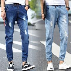 กางเกงผู้ชาย ผู้หญิง ราคาถูก กางเกงยีนส์ มี สีน้ำเงิน สีฟ้า มี ไซร์ S M L XL XXL