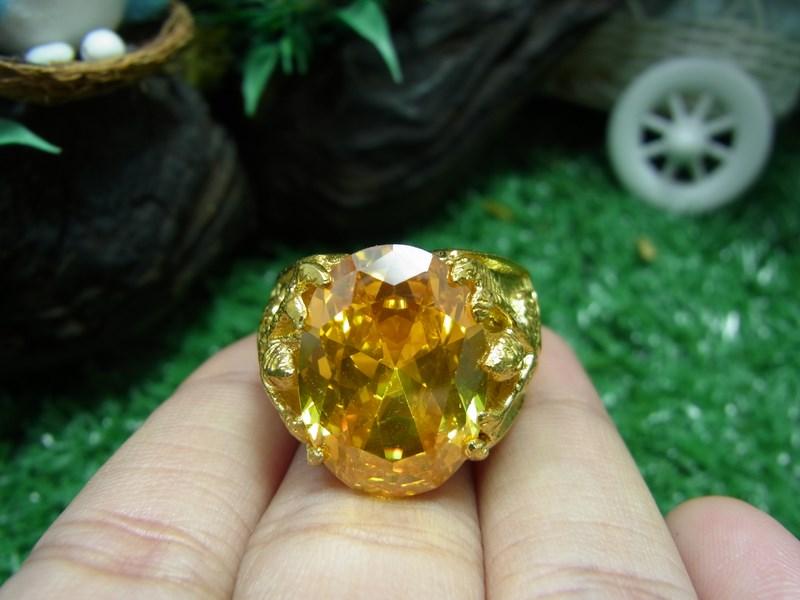 แหวนพญาครุฑพลอยสีเหลือง