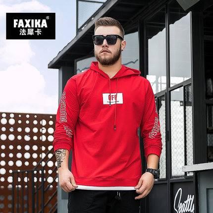 ขนาด:XL 2XL 3XL 4XL 5XL 6XL 7XL 8XL สี:แดง/ดำ/น้ำเงิน เสื้อคนอ้วน เสื้อผ้าผู้ชาย ขนาดใหญ่ เสื้อกันหนาวมีฮู้ด