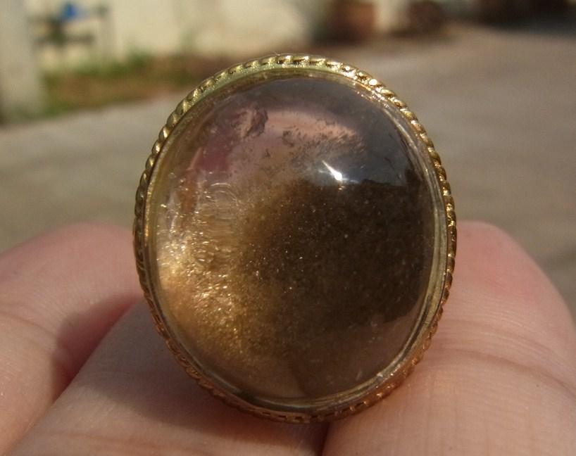 แหวนทองเหลือง  แก้วปวก เบอร์ 54 ครึ่ง