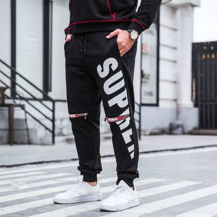 ขนาด:XL 2XL 3XL 4XL 5XL 6XL 7XL สี:ดำ กางเกงคนอ้วน กางเกงผู้ชาย ขนาดใหญ่ กางเกงขายาว