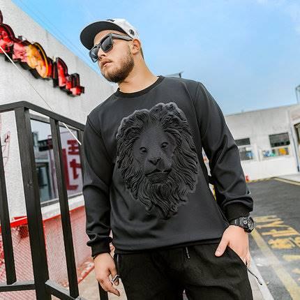 ขนาด:XL 2XL 3XL 4XL 5XL 6XL สี:ดำ เสื้อคนอ้วน เสื้อผ้าผู้ชาย ขนาดใหญ่ เสื้อกันหนาว