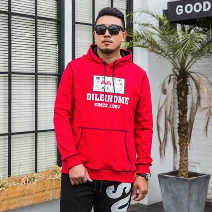 ขนาด:XL 2XL 3XL 4XL 5XL 6XL 7XL สี:ดำ/แดง เสื้อคนอ้วน เสื้อผ้าผู้ชาย ขนาดใหญ่ เสื้อกันหนาวมีฮู้ด