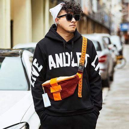 ขนาด:XL 2XL 3XL 4XL 5XL 6XL สี:ดำ เสื้อคนอ้วน เสื้อผ้าผู้ชาย ขนาดใหญ่ เสื้อกันหนาวมีฮู้ด