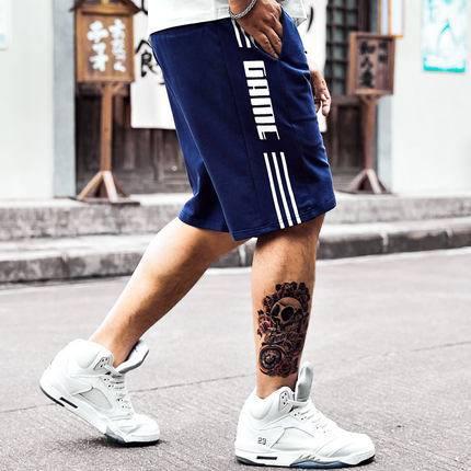 ขนาด:XL 2XL 3XL 4XL 5XL 6XL สี:น้ำเงิน กางเกงคนอ้วน กางเกงผู้ชาย ขนาดใหญ่ กางเกงขาสั้น