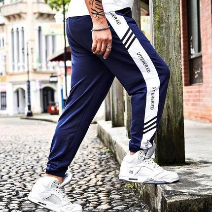ขนาด:XL 2XL 3XL 4XL 5XL 6XL สี:น้ำเงิน กางเกงคนอ้วน กางเกงผู้ชาย ขนาดใหญ่ กางเกงขายาว