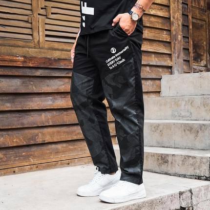 ขนาด:XL 2XL 3XL 4XL 5XL 6XL สี:ดำ กางเกงคนอ้วน กางเกงผู้ชาย ขนาดใหญ่ กางเกงขายาว