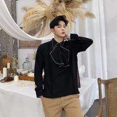 เสื้อผ้าผู้ชาย ราคาถูก เสื้อเชิ๊ตแขนยาว เท่ๆ มี สีขาว สีดำ มี ไซร์  M L XL XXL