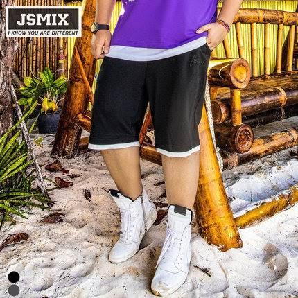 ขนาด:36 38 40 42 44 46 48 สี:เทา/ดำ กางเกงคนอ้วน กางเกงผู้ชาย ขนาดใหญ่ กางเกงขาสั้น
