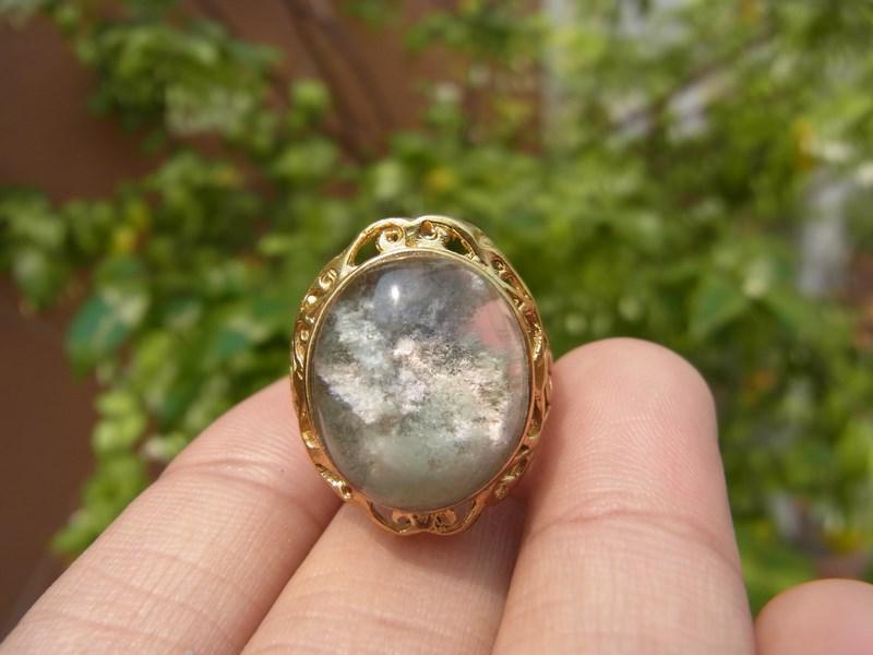 แหวนทองเหลืองแก้วปวก 3 สี
