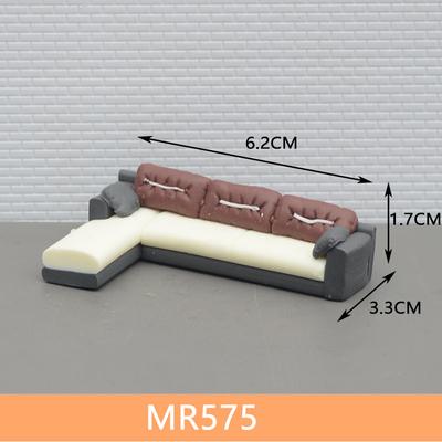 พร้อมส่ง>> สเกล1:50 ชุดโซฟา เฟอร์นิเจอร์ตกแต่งบ้านตุ๊กตา ของแต่งบ้านตุ๊กตา (ขนาด6.2cmX3cmX1.6cm)