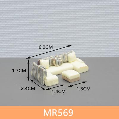 พร้อมส่ง>> สเกล1:50 ชุดโซฟา เฟอร์นิเจอร์ตกแต่งบ้านตุ๊กตา ของแต่งบ้านตุ๊กตา (ขนาด6cmX3.7cmX1.6cm)(ขนาด1.3cmX1.3cmX0.7cm)