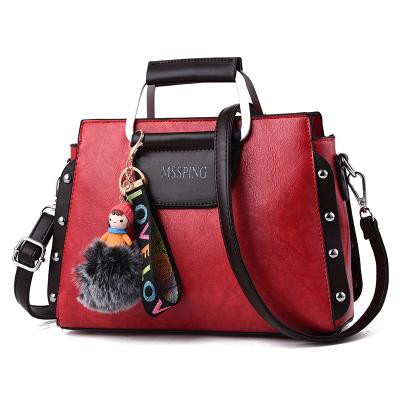 กระเป๋าหนังแฟชั่น กระเป๋าสะพายผู้หญิง กระเป๋าถือ กระเป๋าหนัง (พร้อมส่ง)