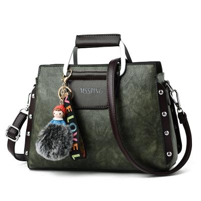 กระเป๋าหนังแฟชั่น กระเป๋าสะพายผู้หญิง กระเป๋าถือ กระเป๋าหนัง (พร้อมส่งสีเขียวเข้ม)