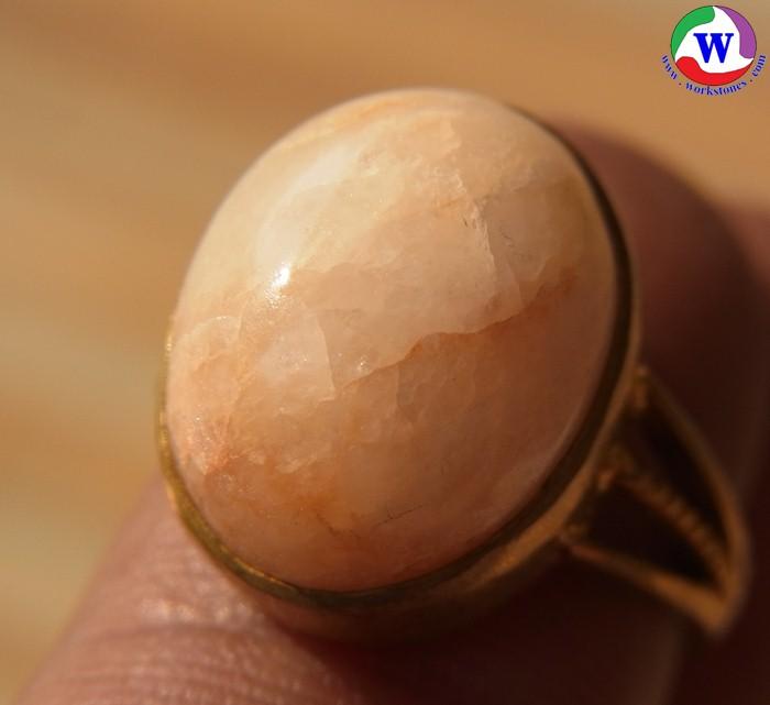 แหวนทองเหลืองหญิง เบอร์ 55 แก้วโป่งข่ามชนิดแก้วประภาชมชื่นเข้าของตื่นไหลมา
