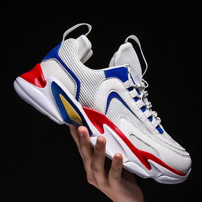 รองเท้าผู้ชาย ราคาถูก รองเท้าแฟชั่น รองเท้าผ้าใบ เกาหลี มี สีขาวดำ สีขาวแดง สีขาวฟ้า มี ไซร์ 38-45