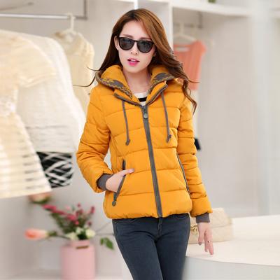 (พร้อมส่งสีเหลือง XL) เสื้อโค๊ทแขนยาว เสื้อโค๊ทกันหนาว เสื้อกันหนาวมีฮู้ด เสื้อแจ๊คเกตผู้หญิง