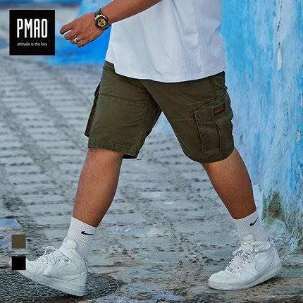 ขนาด:2XL 3XL 4XL 5XL 6XL สี:ดำ/เขียว กางเกงคนอ้วน กางเกงผู้ชาย ขนาดใหญ่ กางเกงขาสั้น