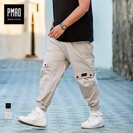 ขนาด:2XL 3XL 4XL 5XL 6XL สี:ดำ/เทา กางเกงคนอ้วน กางเกงผู้ชาย ขนาดใหญ่ กางเกงขายาว