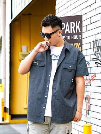 ขนาด:XL 2XL 3XL 4XL 5XL 6XL สี:เทา เสื้อคนอ้วน เสื้อผ้าผู้ชาย ขนาดใหญ่ เสื้อเชิ้ต แขนสั้น