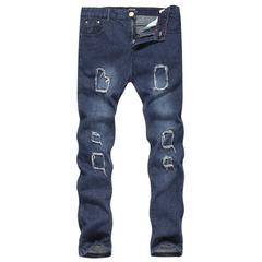กางเกงผู้ชาย ราคาถูก กางเกงยีนส์ กางเกงลำลอง กางเกงขายาว มี สีน้ำเงินเข้ม สีดำ มี ไซร์ M L XL 2XL