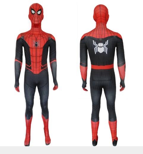 ++พร้อมส่ง++ชุดสไปเดอร์แมนรุ่นใหม่ Spider-Man: Far From Home ชุดไอ้แมงมุม ชุดSpiderMan  ชุด+หน้ากาก ปี 2019