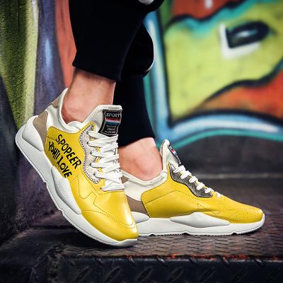 รองเท้าผู้ชาย ผู้หญิง ราคาถูก รองเท้าแฟชั่น รองเท้าผ้าใบเท่ๆ มี สีเหลือง สีดำ สีขาว มี เบอร์ 39-44