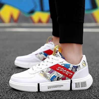 รองเท้าผู้ชาย ผู้หญิง ราคาถูก รองเท้าแฟชั่น รองเท้าผ้าใบเท่ๆ มี สีขาวดำ สีขาวแดง สีดำ มี เบอร์ 37-44
