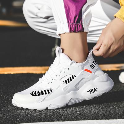 รองเท้าผู้ชาย ผู้หญิง ราคาถูก รองเท้าแฟชั่น รองเท้าผ้าใบเท่ๆ มี สีดำ สีขาว มี เบอร์ 36-46