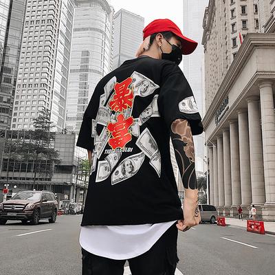 เสื้อผ้าผู้ชาย ผู้หญิง ราคาถูก เสื้อยืดฮิปฮอป มี สีขาว สีดำ มี ไซร์ M L XL 2XL