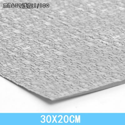 พร้อมส่ง>> สเกล1:100 โมเดลหินตกแต่งผนังPVC รูปแบบตกแต่งอาคารภายนอก (ขนาด20cmX30cm)