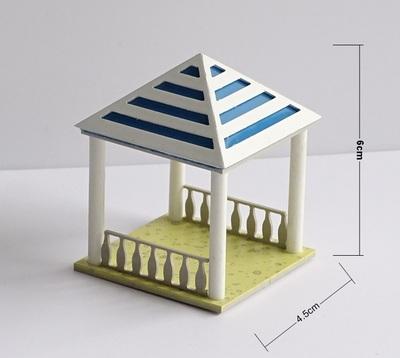 พร้อมส่ง>> สเกล1:50 โมเดลศาลานั่งเล่น รูปแบบจำลองจัดสวนภายนอก