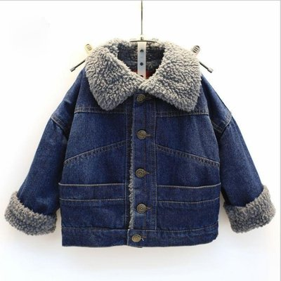(พร้อมส่ง Size 13) เสื้อยีนส์กันหนาวเด็ก เสื้อโค๊ทยีนส์เด็ก เสื้อแขนยาวเด็ก เสื้อยีนส์แขนยาวกันหนาว