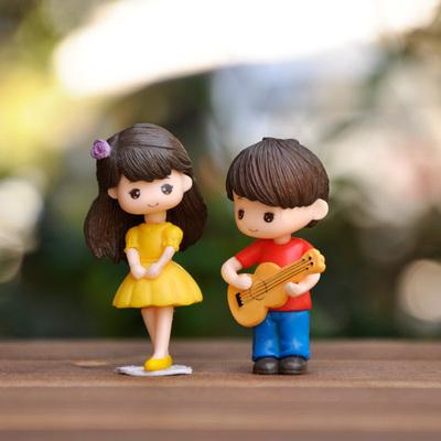 พร้อมส่ง>> DIYตุ๊กตาตกแต่งสวนจิ๋ว ตุ๊กตาจิ๋ว ตุ๊กตาตกแต่งบ้าน (เซ็ต2ชิ้น)