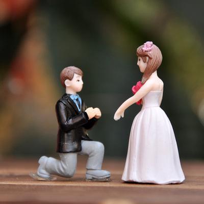 พร้อมส่ง>> DIYตุ๊กตาคู่แต่งงานตกแต่งสวนจิ๋ว ตุ๊กตาจิ๋วตกแต่งสวนถาด ตุ๊กตาตกแต่งบ้าน (เซ็ต2ชิ้น)