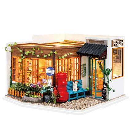 เปิดจอง>> DIYโมเดลร้านหนังสือ โมเดลจิ๋ว โมเดลบ้านตุ๊กตา ชุดอุปกรณ์ครบเซ็ตในกล่อง