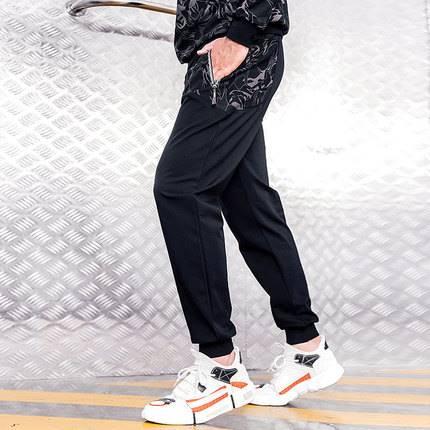 ขนาด:36 38 40 42 44 46 สี:ดำ กางเกงคนอ้วน กางเกงผู้ชาย ขนาดใหญ่ กางเกงขายาว