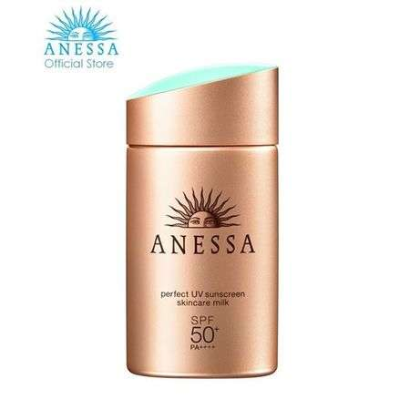 Shiseido Perfect uv Sunscreen Skincare Milk SPF50+++60ml.ครีมกันแดดสูตรน้ำนม เนื้อบางเบา ไม่เหนียวเหนอะหนะ กันน้ำ กันเหงื่อ ช่วยปกป้องผิวจากรังสี UVA และ UVB ด้วยค่า SPF50+/PA++++ พร้อมฟื้นฟูผิวจากการทำร้ายของแสงแดดในขั้นตอนเดียว เหมาะสำหรับกิจกรรมกลางแจ้