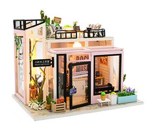 เปิดจอง>> DIYโมเดลห้องดนตรี โมเดลจิ๋ว บ้านตุ๊กตา ชุดอุปกรณ์ครบเซ็ตในกล่อง