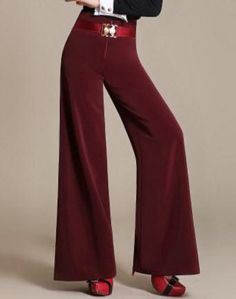 พรีออเดอร์ กางเกงขายาว ทรงเรียบหรู ขาบาน สี แดง ดำ เขียว
