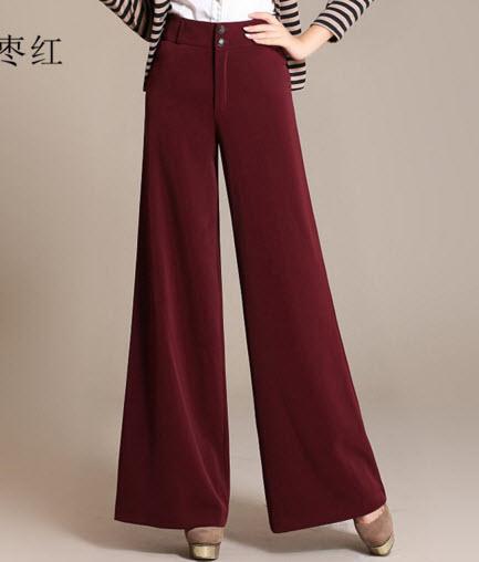 พรีออเดอร์ กางเกงขายาว แต่งซิบหน้า สไตลเรียบหรู ดูดีมาก ๆ สี แดง ดำ เขียว น้ำตาล