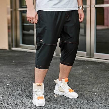 ขนาด:36 38 40 42 44 46 สี:ดำ/เทา กางเกงคนอ้วน กางเกงผู้ชาย ขนาดใหญ่ กางเกงขาสั้น